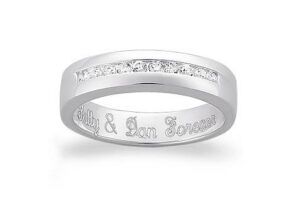 Personal Engraving on an engagement ring